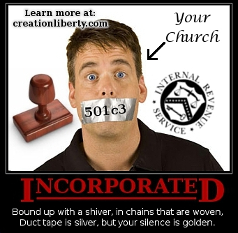 Demotivational Poster 501c3 Incorporated Church