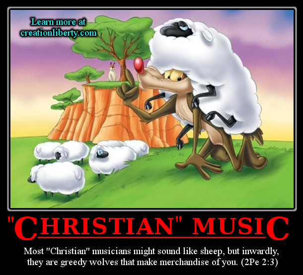 demotivational poster creation liberty evangelism christian rock they look like sheep they act like sheep and without discernment they'll sound like sheep creationliberty.com